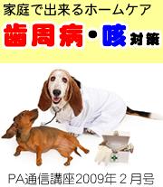 2009年2月号「家庭で出来るナチュラル・ケア 〜 歯周病、咳 対策 〜」