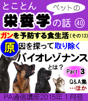 2015年01月号「ペットの栄養学 ガンを予防する食生活(その13)「バイオレゾナンス・メソッドとは?part3」
